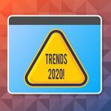 De Tendensen 2020 van de handschrifttekst Concept die algemene richting betekenen waarin iets ontwikkelt of Spatie verandert stock illustratie