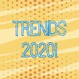 De Tendensen 2020 van de handschrifttekst Concept die algemene richting betekenen waarin iets zich ontwikkelt of veranderend Patr vector illustratie