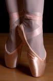 De tenen van het ballet Stock Foto