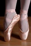 De tenen van het ballet Stock Foto's