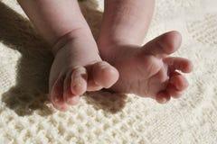 De tenen van Wiggeling stock afbeelding