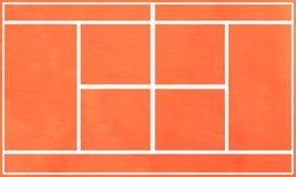 De tennisbaan van de grond. royalty-vrije illustratie