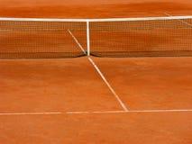 De tennisbaan van de klei Stock Fotografie
