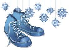 De Tennisschoenen van de Winter van de vakantie Vector Illustratie