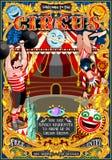 De Tent van de het Parkaffiche van circuscarnaval nodigt Thema Vectorillustratio uit Stock Foto's