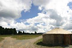 De tent van de nomade Stock Foto's