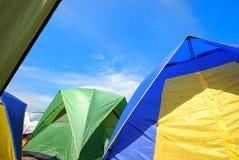 De tent van de toerist Royalty-vrije Stock Afbeeldingen