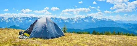 De tent van de toerist Stock Fotografie