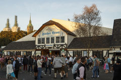 De tent van Fischervroni in Oktoberfest in München, Duitsland, 2016 Royalty-vrije Stock Fotografie