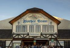 De tent van Fischervroni in Oktoberfest in München, Duitsland, 2016 Stock Foto's
