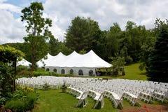De tent van het huwelijk stock foto's