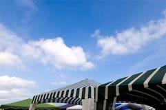 De tenten van het strand royalty-vrije stock afbeelding