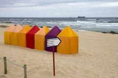 De tenten van het strand stock foto