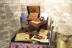 De tentoongestelde voorwerpen van Harry Porter collectibles royalty-vrije stock afbeelding