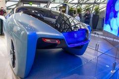 De tentoonstelling bij BMW-Museum stelt gewaagde conceptenauto van toekomst voor - luxueuze 103EX-broodje-Royce VISIE DAARNA 100, stock afbeelding