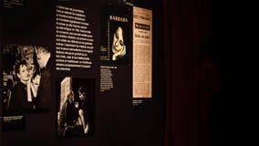 De tentoonstelling van Barbara in Philarmonie DE Parijs royalty-vrije stock foto's