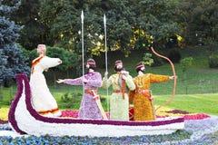 De tentoonstelling van de bloem vastgesteld aan de Dag van de Onafhankelijkheid Stock Foto's