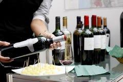 De tentoonstelling van de wijn Stock Afbeeldingen