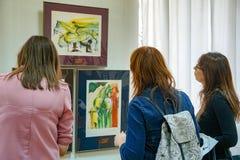 De tentoonstelling van grafiek door Salvador Dali stock fotografie