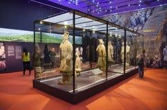 : De tentoonstelling van het terracottaleger op 24 Juni, 2016 in Vappriikki-museumcentrum, Tampere, Finland Royalty-vrije Stock Afbeelding