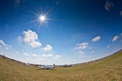 De tentoonstelling van het vliegtuig op de Lucht van Zagreb toont Royalty-vrije Stock Foto's