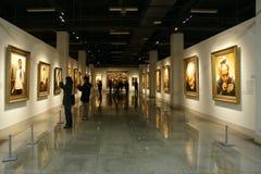 De tentoonstelling van schilderijen Stock Fotografie