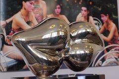 De tentoonstelling van Shanghai Expo van luxe het leven de werken van Wang Xiaohui Stock Foto's