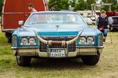 De tentoonstellings` Matrijs Oldtimer toont ` Cadillac-convertibel Eldorado, 1971 Stock Afbeeldingen
