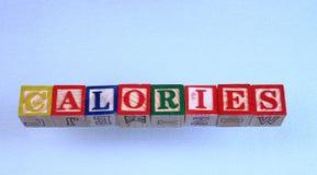 De term calorieën royalty-vrije stock afbeeldingen
