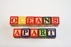 De term oceanen apart stock foto's