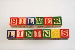 De term zilveren voeringen Stock Foto's