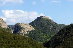 De Termes, Pyrenees slott Arkivfoto
