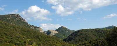 De Termes, Pyrenees slott Royaltyfria Bilder
