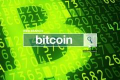 De termijn van de de barverklarende woordenlijst van het Webonderzoek - bitcoin stock afbeelding