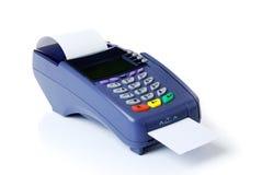 De terminal met een zuivere creditcard royalty-vrije stock foto