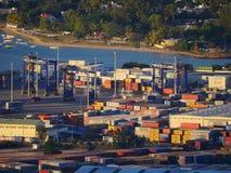 De terminal van de containeropslag Royalty-vrije Stock Foto's