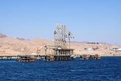 De terminal van de bulk-olie Royalty-vrije Stock Afbeeldingen