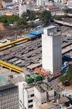 De terminal van de bus in parkDom Pedro, Sao Paulo Stock Foto's