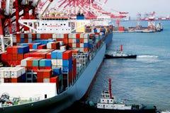 De Terminal van de container stock foto's