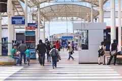 De Terminal van de Quitumbebus in Quito, Ecuador Royalty-vrije Stock Fotografie