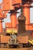 De terminal van het de havenijzererts van Qingdao royalty-vrije stock foto's