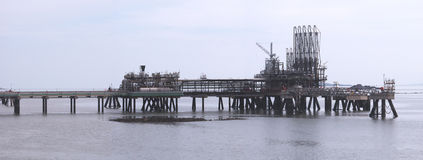 De Terminal van het gas Royalty-vrije Stock Afbeeldingen