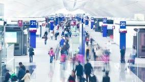 De terminal van het luchthavenvertrek stock footage