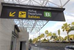 De Terminal van het vertrek stock afbeelding