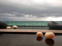 De terrasdecoratie Stock Foto