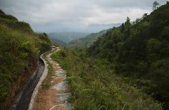 De terrassen van de Longshegrijst (China) stock afbeelding
