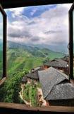 De Terrassen van de rijst, Guilin, China royalty-vrije stock afbeeldingen
