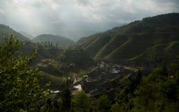 De Terrassen van de Rijst van Longsheng Stock Foto's