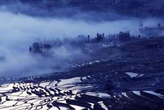 De terrassen van de Yuanyangrijst Royalty-vrije Stock Afbeelding