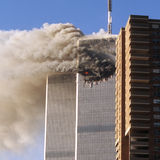 De terroristenaanval van het World Trade Center Stock Foto's